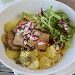 Kartoffelsalat mit Räuchertofu